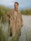 Пальто двубортное с поясом