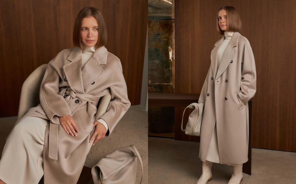Пальто из 100% кашемира