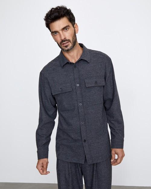 Рубашка из смесовой шерсти