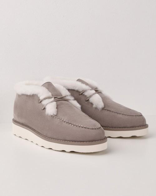 Полуботинки с рифленой подошвой на шнурках