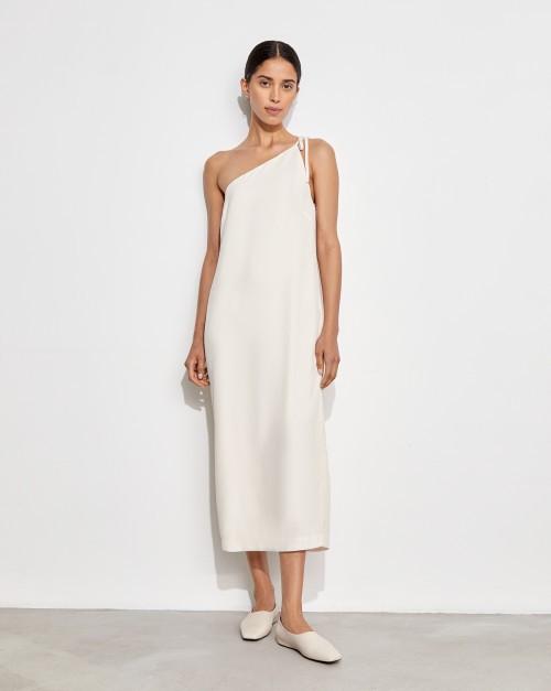 Платье-комбинация на одно плечо
