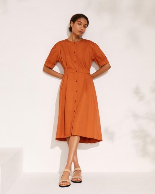 Платье-рубашка с асимметричным низом