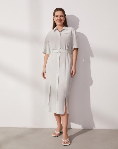 Платье-рубашка с поясом