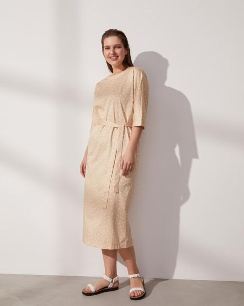 Платье миди с вырезом и пуговицами сзади