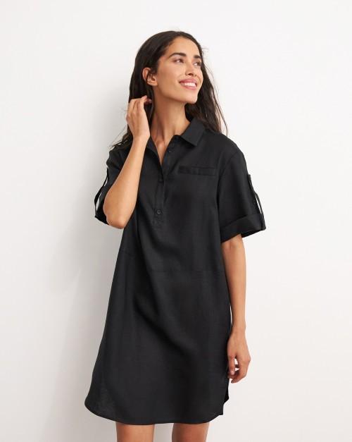 Платье-рубашка с планкой