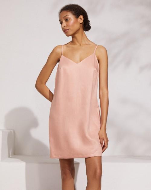 Платье-комбинация мини изо льна