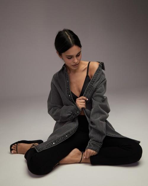 Платье-рубашка джинсовое
