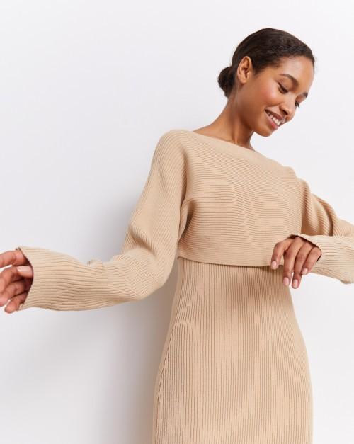 Платье с кроп-джемпером
