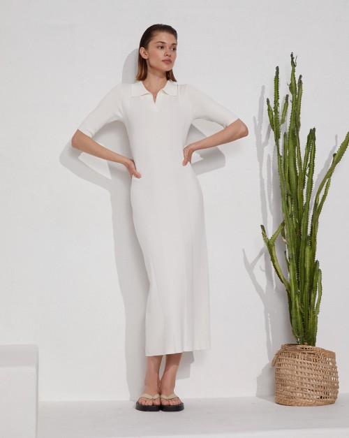 Платье-поло с коротким рукавом