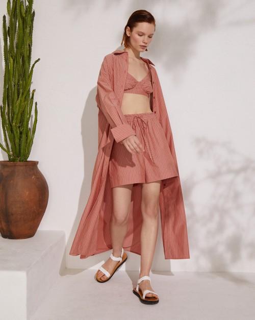 Длинное платье-рубашка из органического хлопка