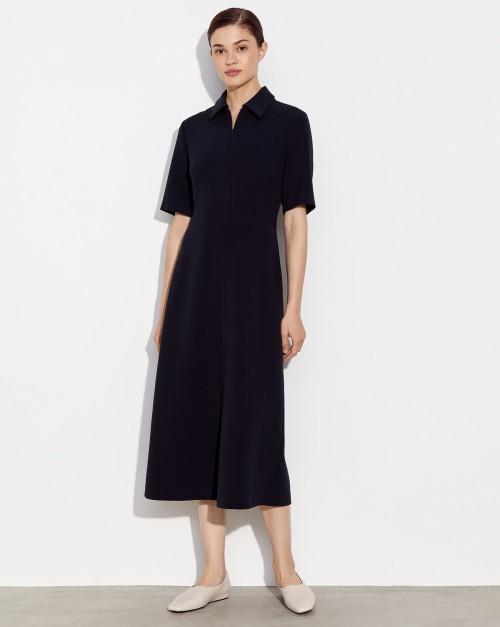 Платье приталенное с воротником