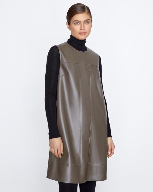 Платье мини из искусственной кожи
