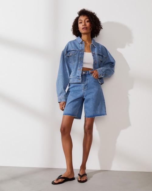 Куртка джинсовая на резинке