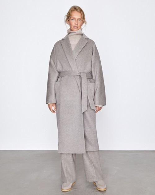 Пальто-халат с поясом