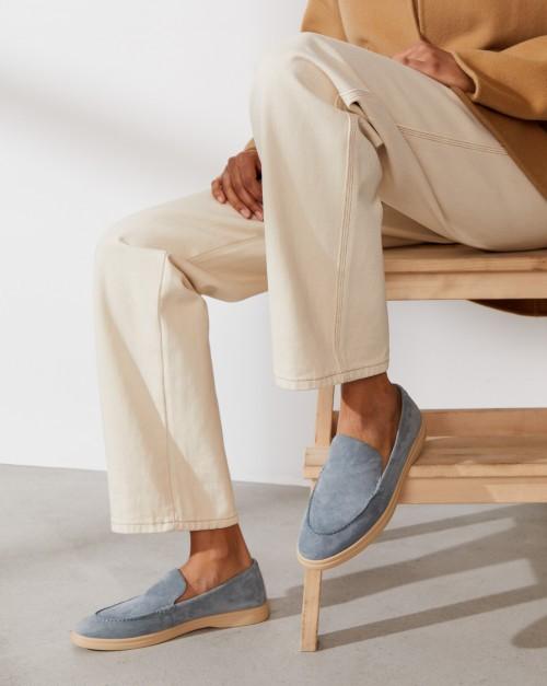 Туфли-лоферы из замши