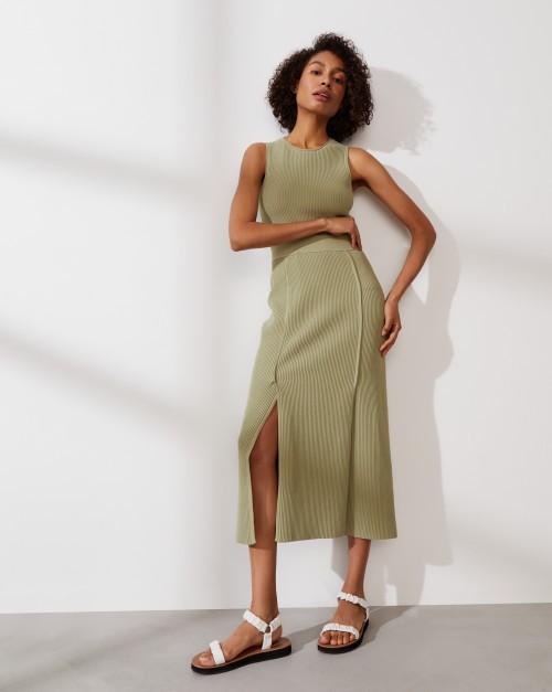Рельефная юбка из хлопка