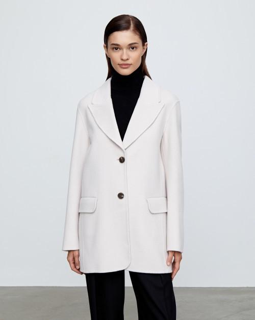 Укороченное пальто с отложным воротником