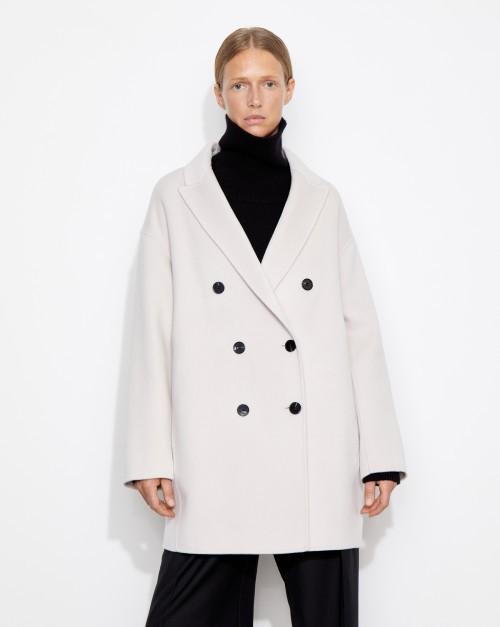 Пальто укороченное двубортное