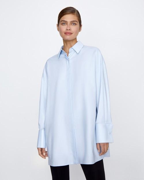 Рубашка объемная с широкими манжетами