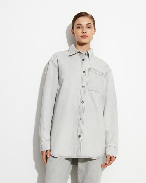 Рубашка джинсовая с карманом