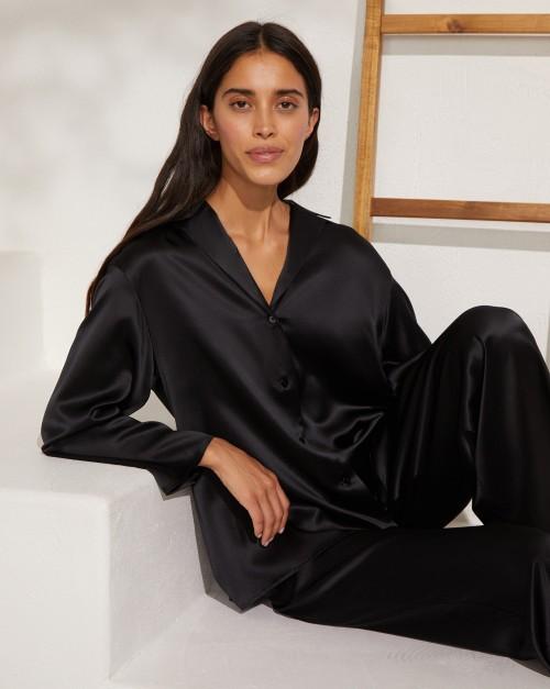 Блуза свободная из шелка