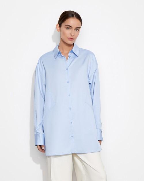 Рубашка с треугольными вставками