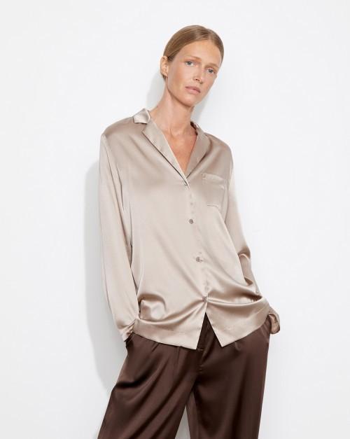 Блуза из шелка с карманом
