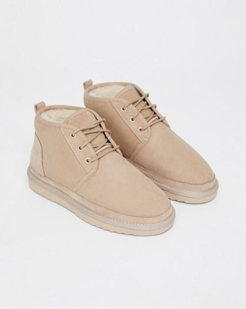 Ботинки мягкие на шнурках