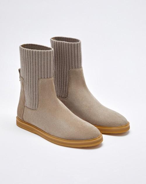 Ботинки челси с вязаным чулком