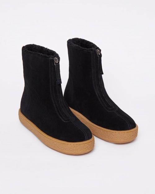 Ботинки на молнии с мехом