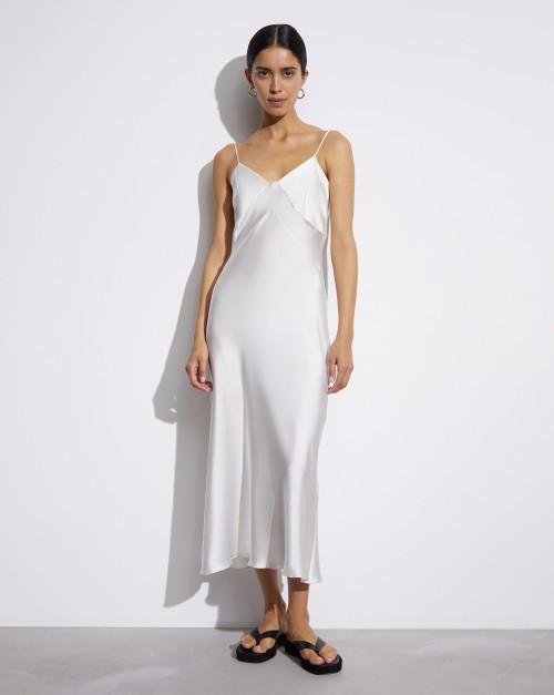 Платье-комбинация шелковое