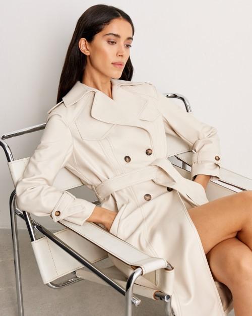 Пальто из искусственной кожи
