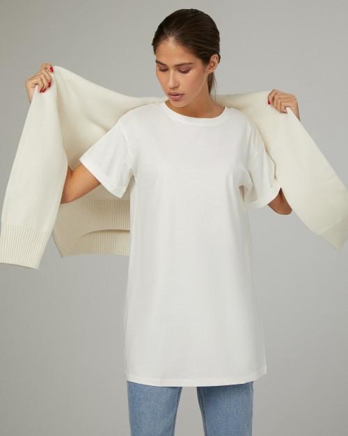 Удлиненная футболка мужского кроя