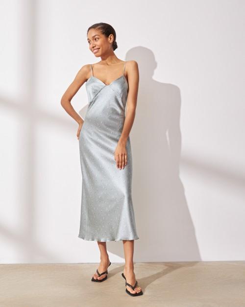 Платье-комбинация из шелка