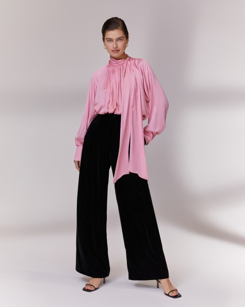Прямые брюки из бархата