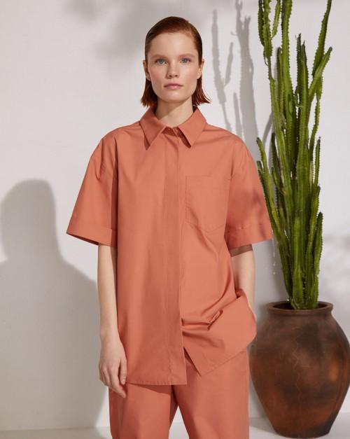 Рубашка из органического хлопка с коротким рукавом