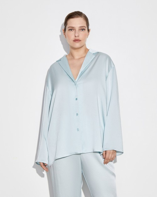 Блуза свободная с лацканами