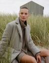 Пальто утепленное с поясом